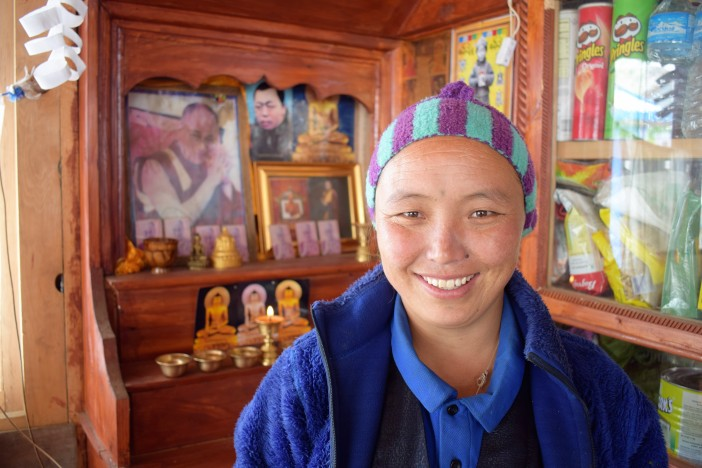 Dawa Chenjum Tamang - our host at the Evening Vew Guest House in Kyanjin Credit Andrew Waterworth