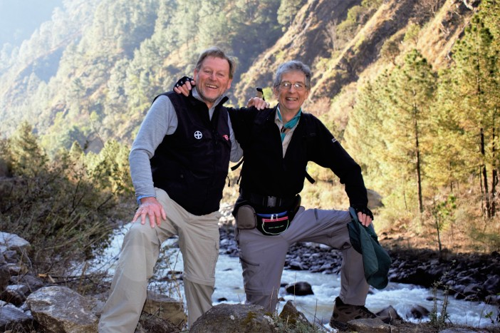 Intrepid trampers - Andrew Waterworth and Harry Creamer Credit Andrew Waterworth