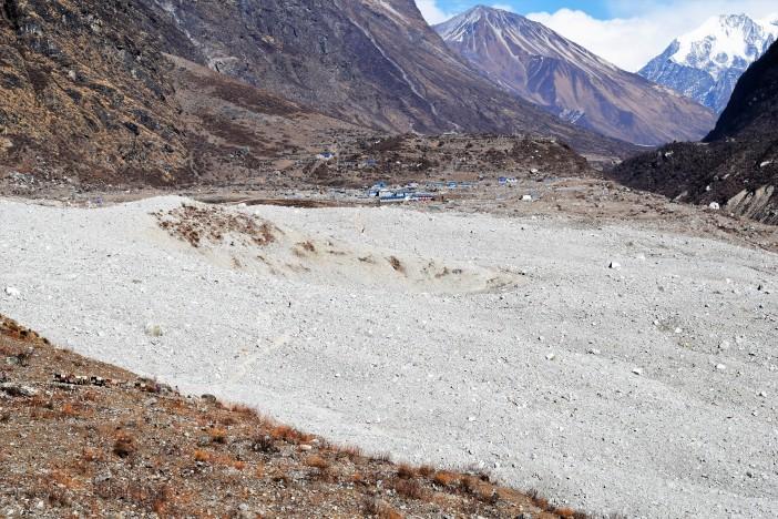 Landslide that destroyed Langtang village 2 Credit Andrew Waterworth