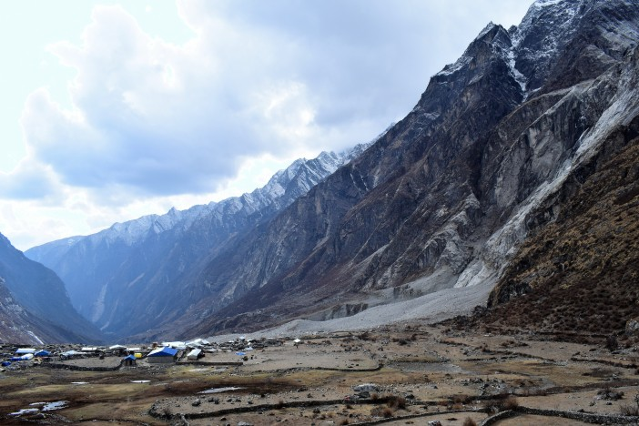 Landslide that destroyed Langtang village 4 - from the east, above Langtang Credit Andrew Waterworth