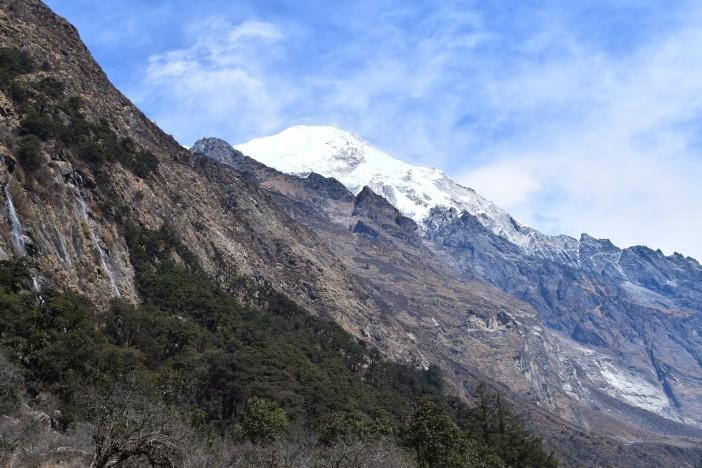 Langtang Lirung - the mountain above Langtang village Credit Andrew Waterworth