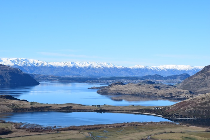 Lake Wanaka looking south towards town